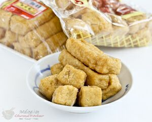 Tau pok (deep fried tofu puffs)
