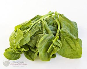 Chan choy (green stem malabar spinach)