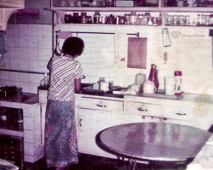 Mom at her kitchen