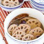 Comforting and tasty Leng Ngau Tong (Lotus Root Soup).