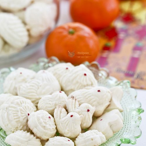 A plateful of beautifully formed Tapioca Cookies.