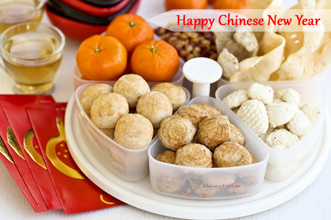 Happy Chinese New Year with Chinese Peanut Cookies.