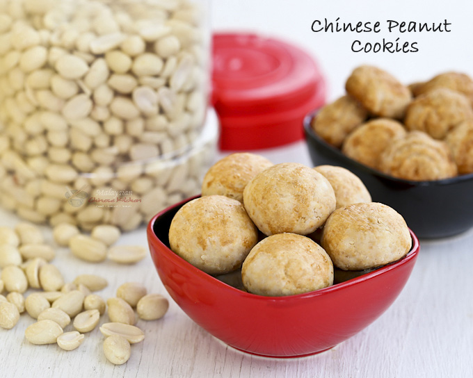Traditional melt-in-the-mouth Chinese Peanut Cookies made gluten free using rice flour. They are a favorite during the Chinese New Year and popular throughout the year.