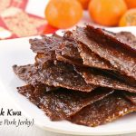 Wafer thin Bak Kwa (Chinese Pork Jerky) is a must-have for the Chinese New Year. Make your own using just a few simple ingredients and at a fraction of the cost. | MalaysianChineseKitchen.com #bakkwa #porkjerky #chinesenewyear #lunarnewyear
