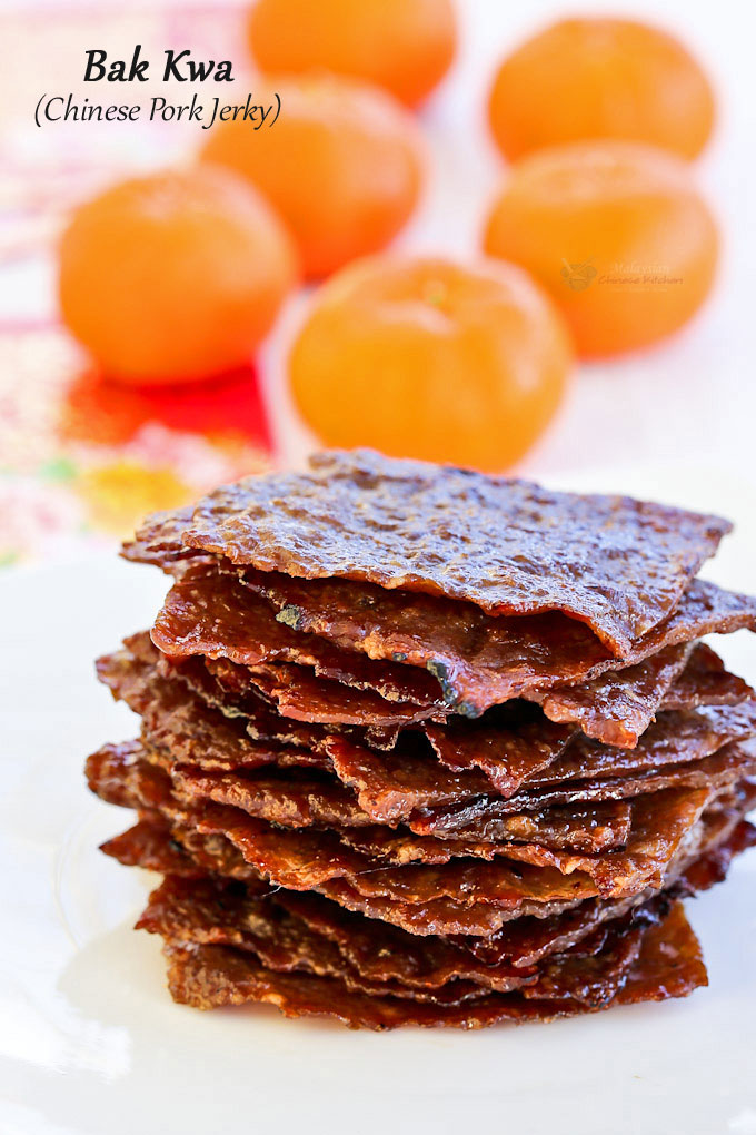Wafer Thin Bak Kwa Chinese Pork Jerky Is A Must Have For The