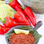 Hand pounded Sambal Belacan.