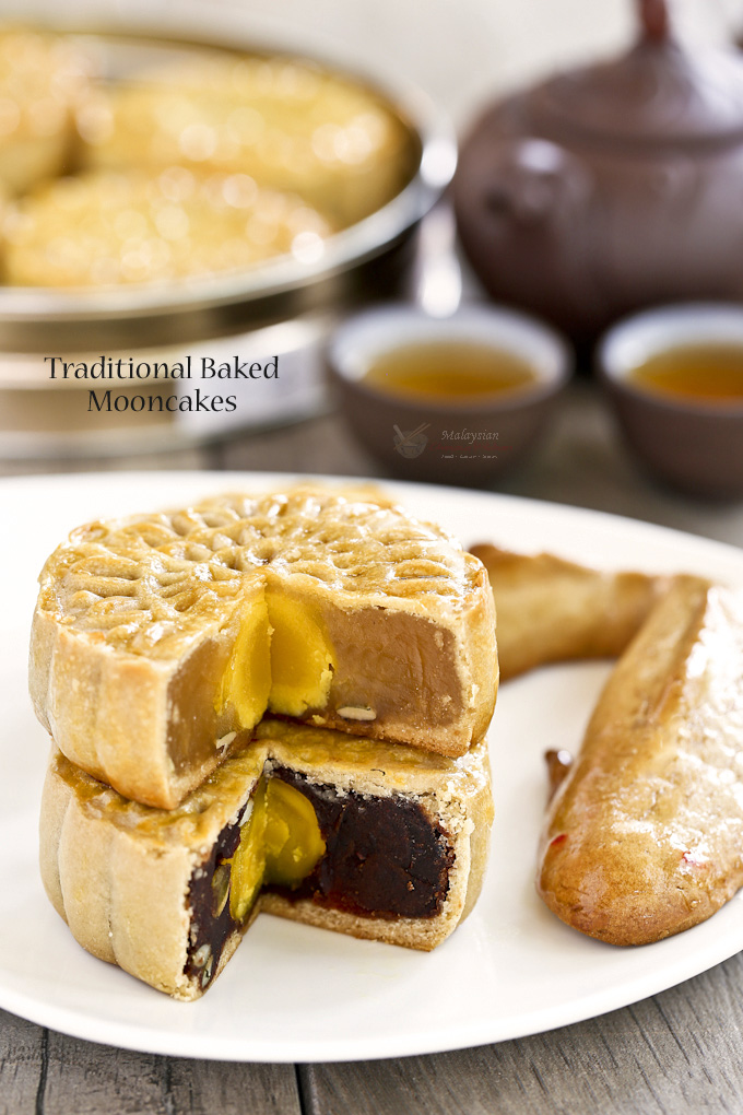 Traditional baked mooncakes malaysian chinese kitchen for Asian cuisine desserts