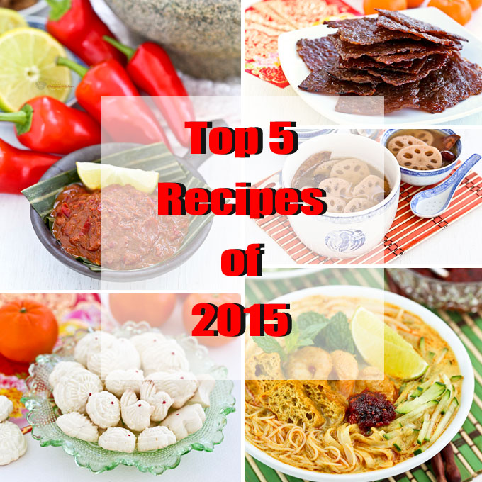 Top 5 recipes of 2015 and 1st blog anniversary malaysian chinese top 5 recipes of 2015 and 1st blog anniversary forumfinder Gallery