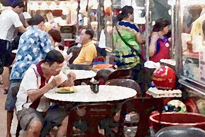 Kopitiam Days - Recollections of old coffee shop culture in 20th century Malaysia replete with local favorites like nasi lemak, roti canai, kopi-o, etc. | MalaysianChineseKitchen.com