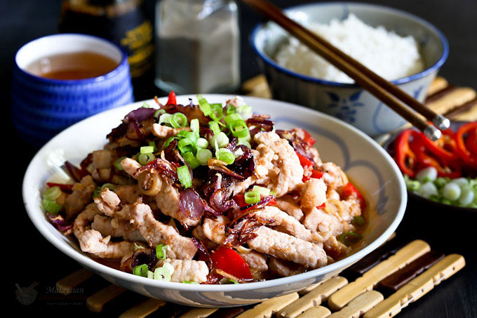 Cincaluk Pork Stir Fry