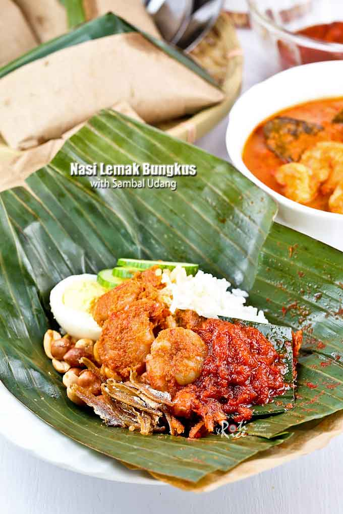 Nasi Lemak Bungkus with Sambal Udang | Malaysian Chinese Kitchen
