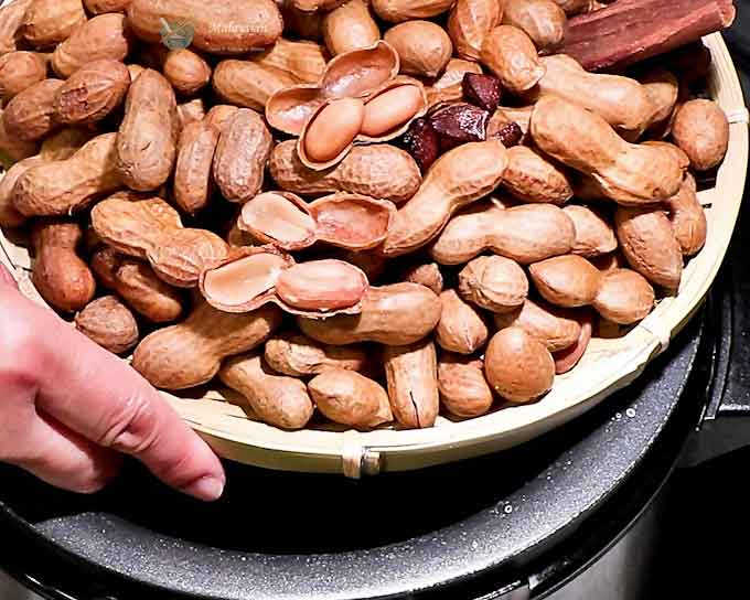 These soft, moist, and salty Pressure Cooker Boiled Peanuts make a delicious snack any time of the day or year. Super easy to prepare.   MalaysianChineseKitchen.com