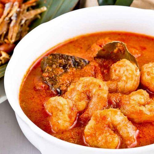 Fiery and delicious Sambal Udang (Prawn Sambal).