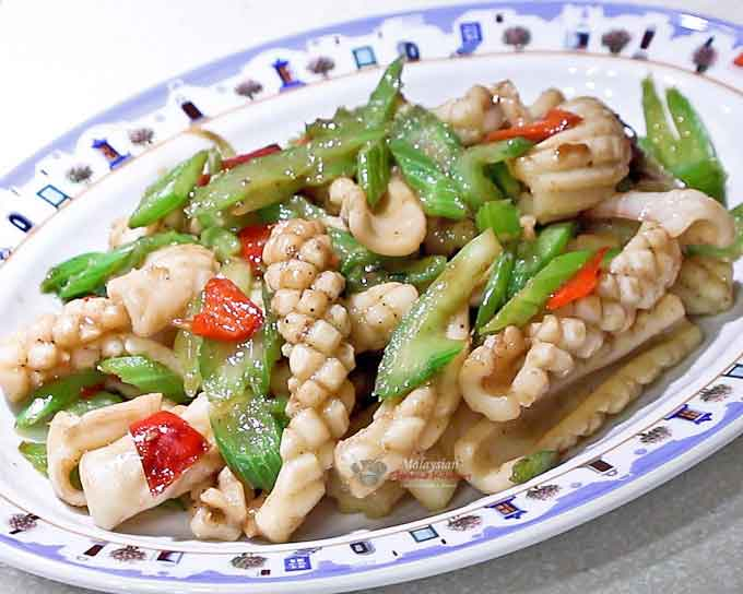 This Squid and Celery Stir Fry is a classic that is sure to please.