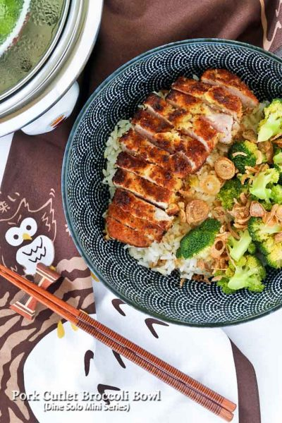 Delicious Pork Cutlet Broccoli Bowl