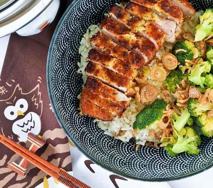 Delicious Pork Cutlet Broccoli Bowl