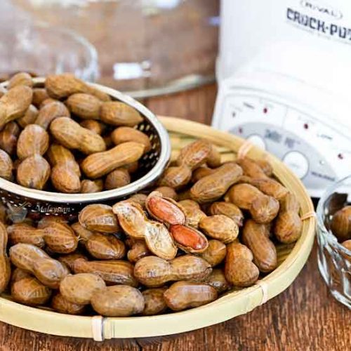 These deliciously tender Slow Cooker Boiled Peanuts are super easy to prepare. Simply set it and allow the slow cooker to do its job.   MalaysianChineseKitchen.com