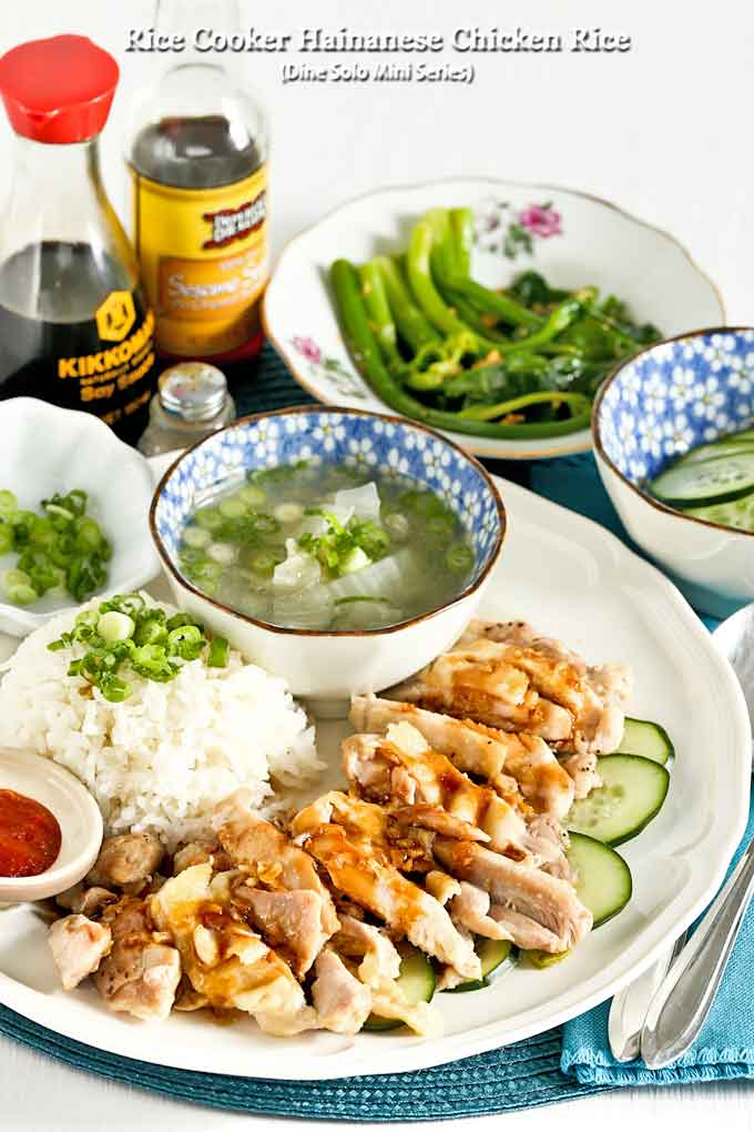 This Rice Cooker Hainanese Chicken Rice is a complete meal in itself.