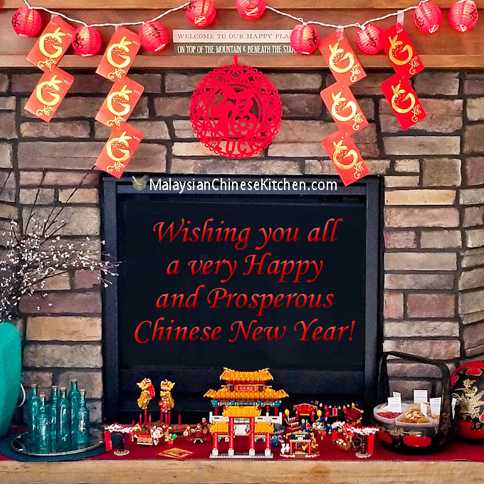 Our Chinese New Year 2020 celebration ushering in a new 12 year cycle. We greet the Metal Rat with our traditional New Year's Day Loh Hon Chai breakfast. | MalaysianChineseKitchen.com #chinesenewyear #lunarnewyear #lohhonchai #braisedmixedvegetables #hoseefattchoy