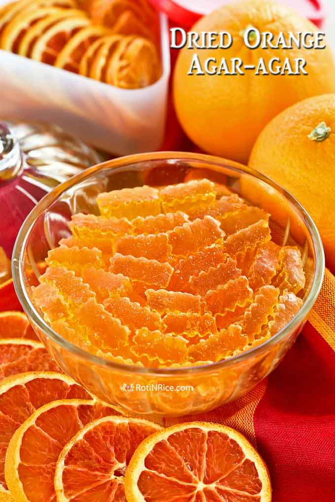 Crystallized Dried Orange Agar-agar