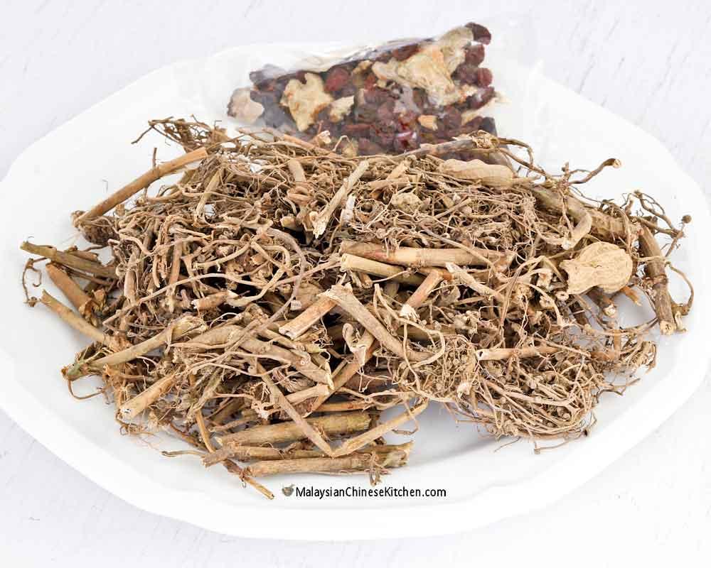 Dried peanut roots