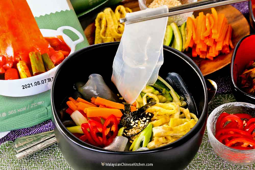 Translucent and chewy Rothy Korean Glass Noodles.