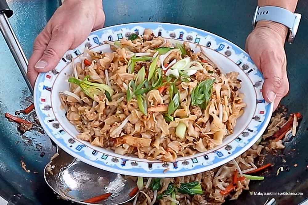A big batch of Knife Shaved Noodles Stir Fry.