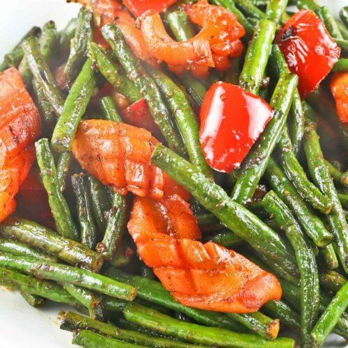 Squid and Long Beans Stir Fry with turmeric.